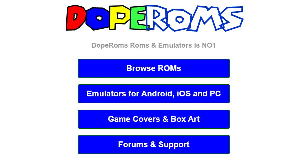 DopeROMs - top roms sites