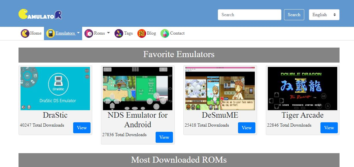 Gamulator - best rom website