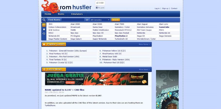 Rom Hustler - best site for roms