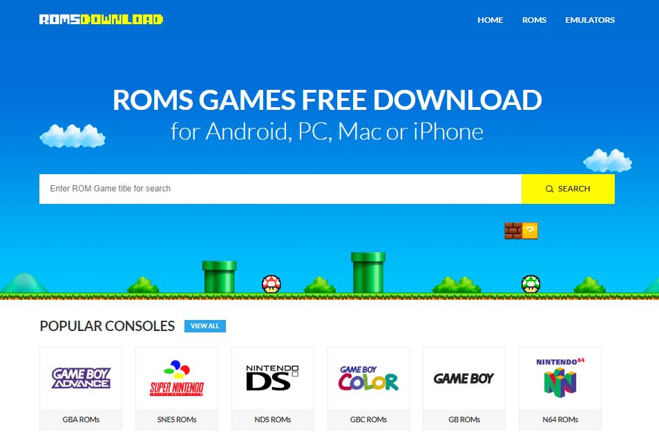 Romsdownload - sites to download roms