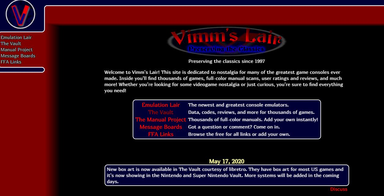 Vimm Lair - best site to download roms