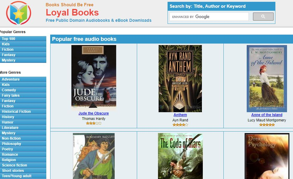 Loyal Books - Most Popular Audiobooks Site