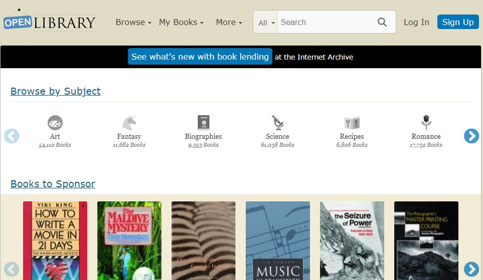 Open Library - Best free Audiobooks Website
